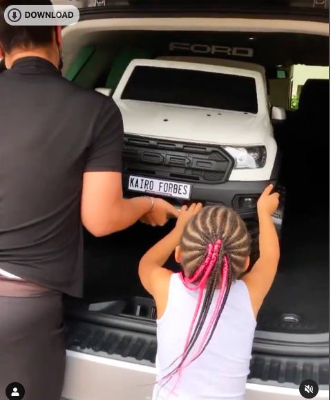 5-Year-old Kairo Forbes gets a gorgeous R6,400 car for Christmas!