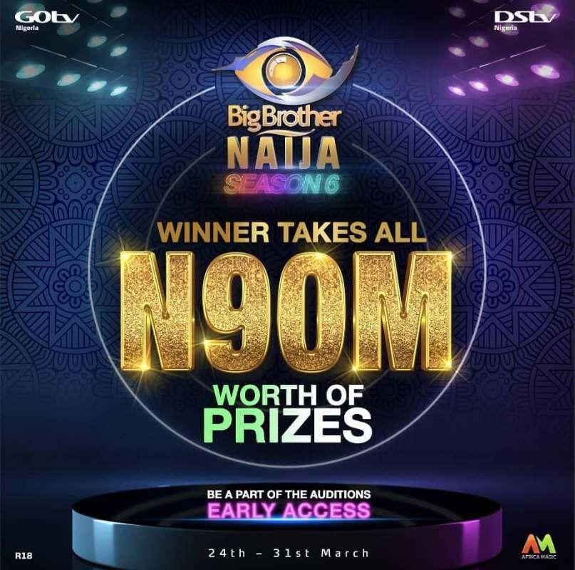 Big Brother Naija Season 6: Organizer announces N90M ($240k) Grand Prize