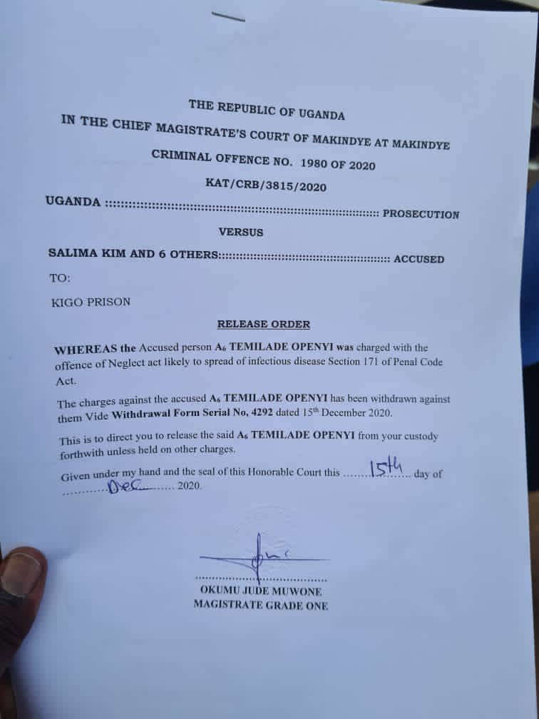 Charges against Omah Lay and Tems in Uganda has been dropped