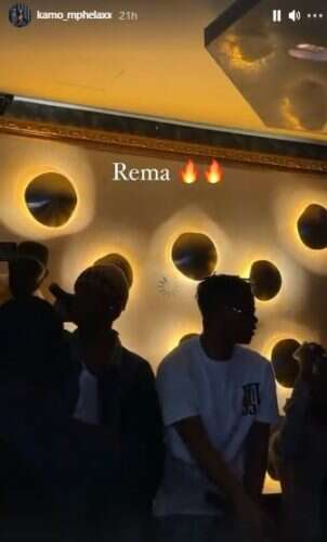 Kamo Mphela links up with Rema in Nigeria