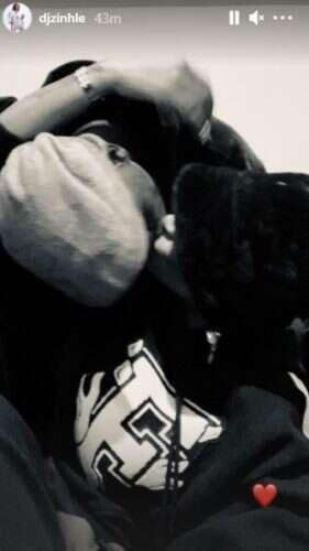 DJ Zinhle and boyfriend Murdah Bongz kiss passionately in new photo