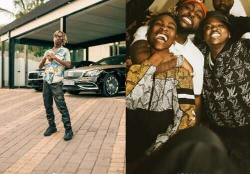 Uncle Vinny hangs out with Davido & Focalistic (Photos)