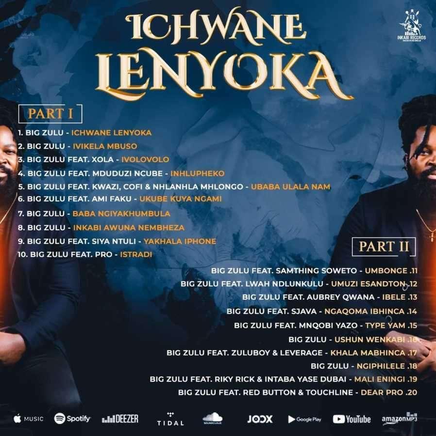 Big Zulu unveils track list for forthcoming album Ichwane Lenyoka