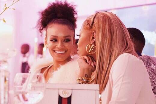Pearl Thusi wishes DJ Zinhle a happy belated birthday with sweet note and videos
