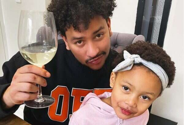 AKA shows his excitement as his little daughter, Kairo starts Grade 1 (Photo)