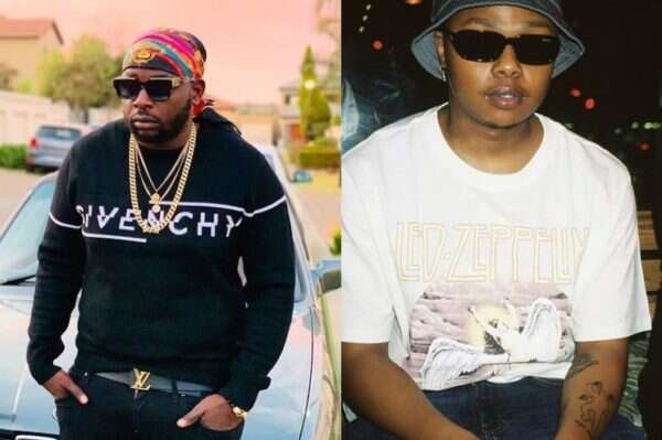 Tweeps go frenzy as DJ Maphorisa and A-Recce get spotted in same photo
