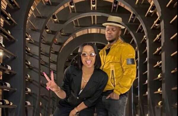 DJ Zinhle melts as Murdah Bongz surprises her family and team