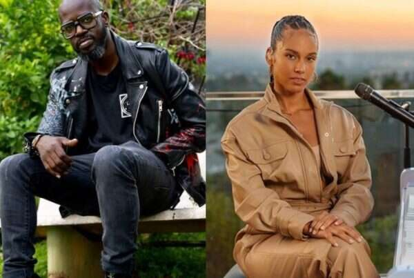 Black Coffee celebrates Alicia Keys on her 40th birthday with a cosy picture, social media goes gaga