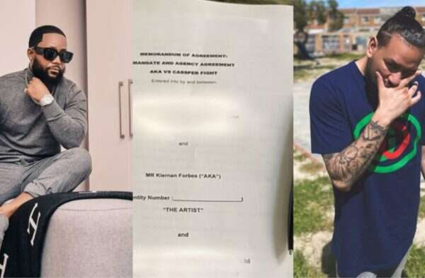 Cassper Nyovest mocks AKA for deleting boxing match contract