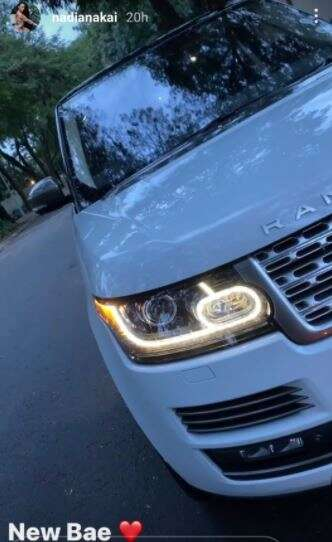 Nadia Nakai gifts self new car