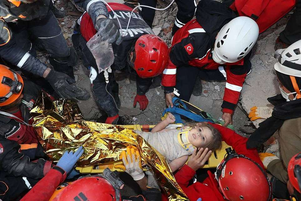 Miraculous rescue! 4-Year-old girl survives 91 hours under rubble after earthquake in Turkey