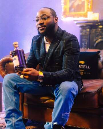 Davido bags new endorsement deal with Martell