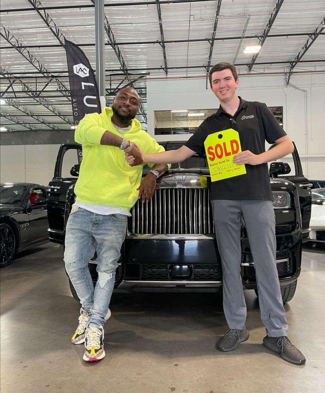 Davido gifts self Brand new 2021 Rolls Royce (Photos & Video)