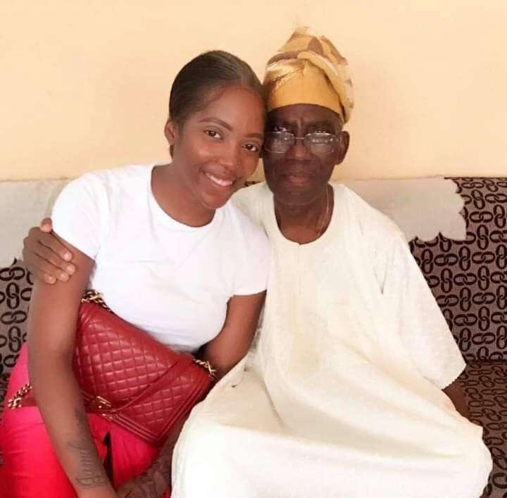 Nigerian singer Tiwa Savage loses father