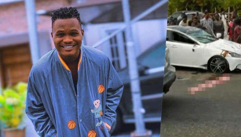 Nigerian Comedian Oluwadolarz involved in ghastly car accident.