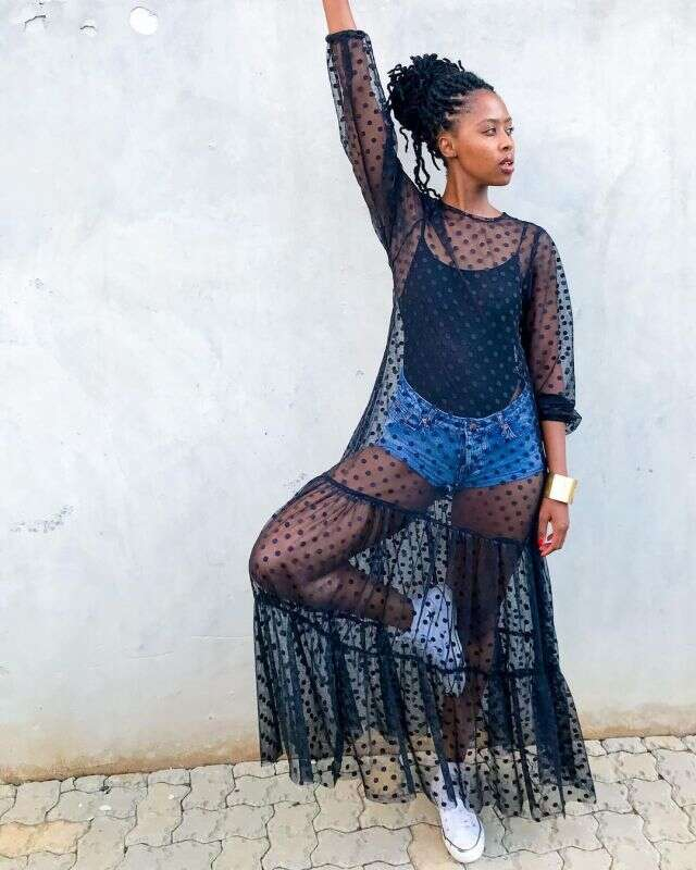 Lesego Tshepang shares epic throwback picture of herself when she was little